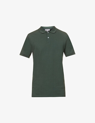 Sunspel Short-sleeve classic-fit cotton-pique polo shirt
