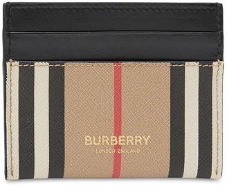 Burberry Sandon Icon Stripe Canvas Card Holder