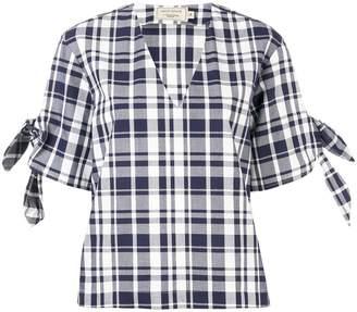 MAISON KITSUNÉ checked blouse