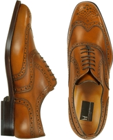 Moreschi Oxford - Tan Calfskin Wingtip Shoes