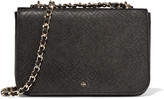 Tory Burch Robinson perforated croc-effect leather shoulder bag