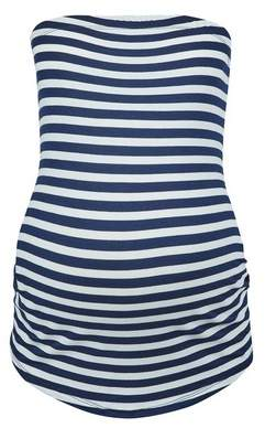 Dorothy Perkins Womens **Maternity Blue Stripe Print Bandeau Top, Blue