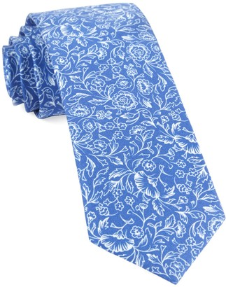 Tie Bar Bracken Blossom Royal Blue Tie