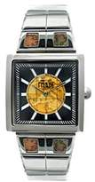 Alviero Martini Prima Classe Women's PCD 913/AM Square Stainless Steel Black Dial Geo-Design Watch