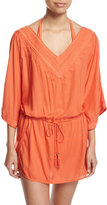 Vix Romance Drawstring-Waist Cover-up, Peach