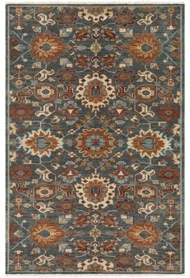 Carlisle Bloomsbury Market Hand-Knotted Wool Dark Green Area Rug Bloomsbury Market Rug Size: Rectangle 9' x 13'
