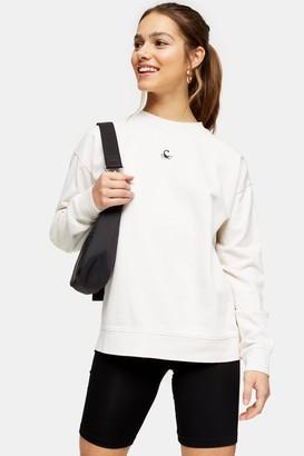 Topshop Womens Petite Scorpion Sweatshirt - White