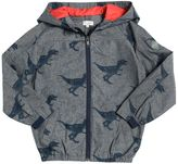 Paul Smith Dinosaur Print Hooded Chambray Jacket