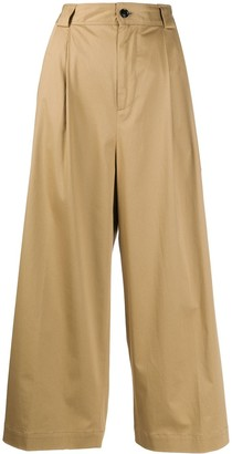 Woolrich Pleated Cropped Trousers