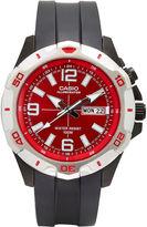 G-Shock G SHOCK Casio Mens Black and Red LED Strap Watch MTD1082-4AV