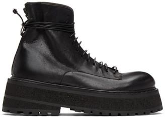 Marsèll Black Carretta Combat Boots