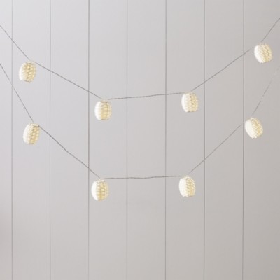 The White Company Woven Lantern Lights - 15 Bulbs, White, One Size