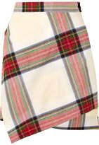 Vivienne Westwood Asymmetric Tartan Cotton Mini Skirt - Red