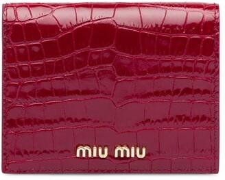 Miu Miu crocodile-effect wallet