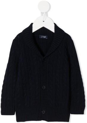 Il Gufo Cable Knit Cardigan