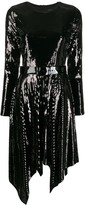 MICHAEL Michael Kors sequinned asymmetric hem dress