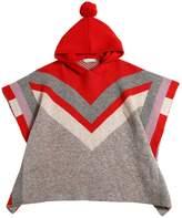 Stella McCartney Logo Intarsia Doubled Knitted Wool Cape