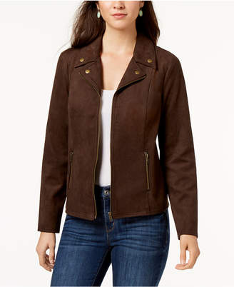 Style&Co. Style & Co Petite Faux Suede Moto Jacket