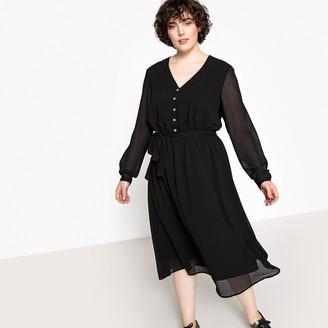 Castaluna Plus Size Tie Waist Midi Dress