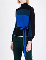 Roksanda Auric high-neck wool-blend top