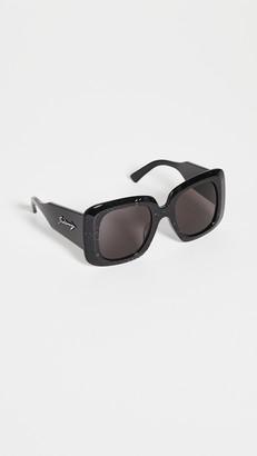 Balenciaga Blow Acetate Oversize Square Sunglasses