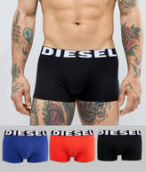 Diesel Shawn trunks 3 pack in red black and blue