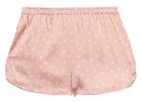 Stella McCartney Betty Twinkling Printed Stretch-silk Satin Pajama Shorts
