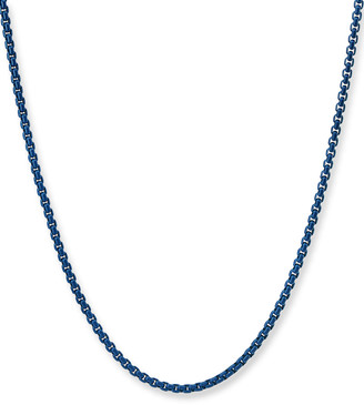 David Yurman Men's Acrylic-Coated Stainless Steel Box Chain Necklace, 24""