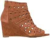 MICHAEL Michael Kors 'Uma' wedge boots - women - Leather/Suede/rubber - 10