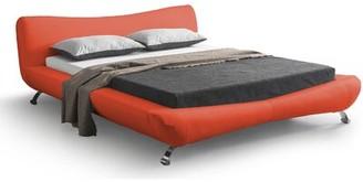 Orren Ellis Sallie Upholstered Platform Bed Size: California King, Color: Red