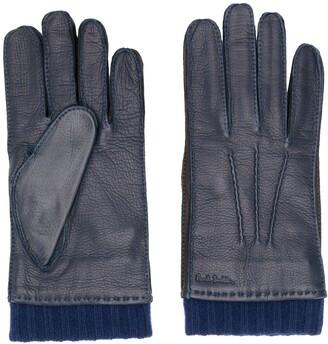 Paul Smith Cuff Detail Deerskin Gloves