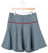 Oscar de la Renta Girls' Wool Skirt