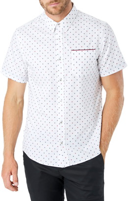 7 Diamonds Highway Star Slim Fit Short Sleeve Button-Up Shirt