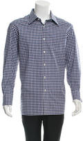 Tom Ford Gingham Print Button-Up Shirt