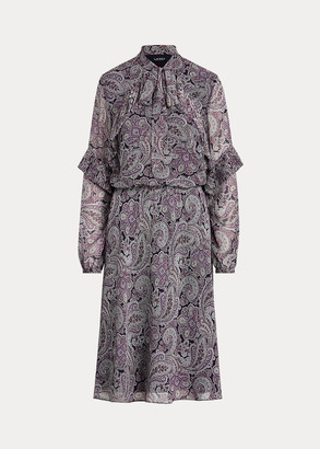 Ralph Lauren Paisley-Print Georgette Dress