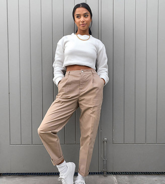 ASOS DESIGN Petite chino pants in stone