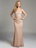 Lara Dresses - Embellished Bateau Sheath Evening Gown 33230