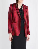 Ann Demeulemeester Wainwright striped wool and cotton-blend blazer