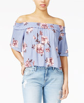 Astr Esme Printed Off-The-Shoulder Top