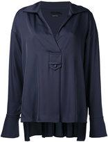 Aula v-neck blouse - women - Polyester - 0