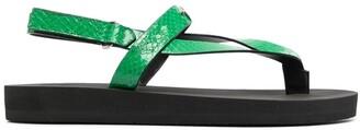 Giuseppe Zanotti Textured Leather-Strap Sandals