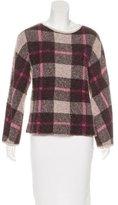 Max Mara Plaid Wool Sweater