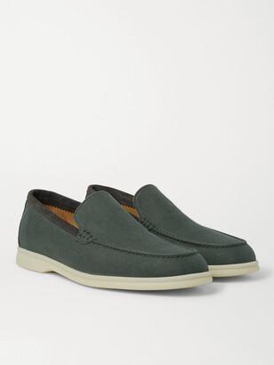 Loro Piana Summer Walk Linen Loafers