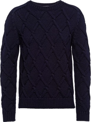 Prada Diamond Cable-Knit Jumper