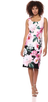 SL Fashions Women's Sleeveless Midi Print Dress