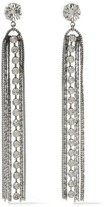 Dannijo Burnished Silver-tone Crystal Earrings