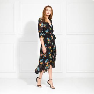 Rachel Zoe Ysabelle Bloom Print Midi Dress