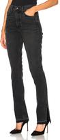 GRLFRND Natalia High Rise Skinny Split Jean in Black,Gray.