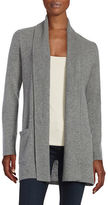 Lord & Taylor Open-Front Cashmere Sweater