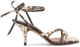 Emme Parsons Snake Print Sandals